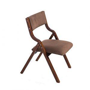 Mode nach Hause ZHILIAN& Kreativer Freizeitklappstuhl Einfacher Haushalt Massivholz Esszimmerstuhl Tragbarer Schreibtischstuhl (Farbe : B)
