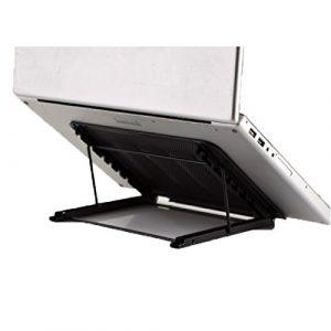 vanra Metall Mesh Tablet Ständer Verstellbare Laptop Ständer Schreibtisch faltbar Tablett Halterung Dock schwarz