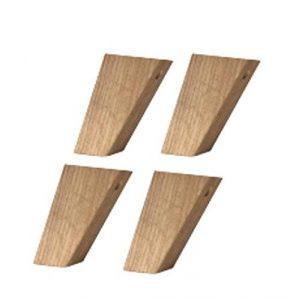 Fuß-Set 1 – hoch Föhr Massivholz Navarra Füße Fuß Schrankfüße Schrank