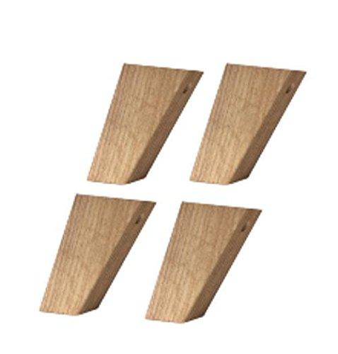 Fuß-Set 1 - hoch Föhr Massivholz Navarra Füße Fuß Schrankfüße Schrank