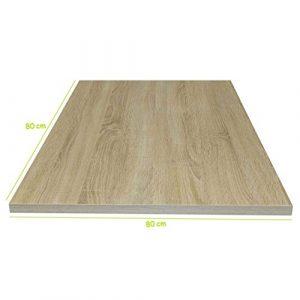 Tischplatte Sonoma Eiche stabile Holz Tisch-Platte 2,2 cm stark für Couchtisch Esstisch Schreibtisch quadratisch 80 x 80 cm