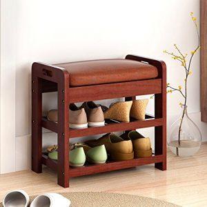 Xiejia Massivholz Schuhe Schuhschrank Einfache Moderne Schuhe hocker Kreative Sofa hocker Multifunktionale hocker kann sitzen hocker (Farbe : B)