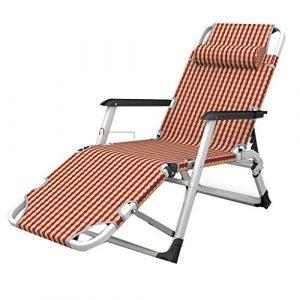 Deckchairs Sonnenliege Liegestuhl Gartenstuhl Balkonstühle Für Zu Hause Zurück Bürostuhl Für Mittagspause Tragbares Feldbett Tragbar Für 200 Kg (Color : A, Size : 52 * 178cm)