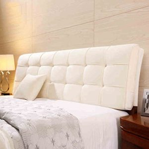 Uus Moderne Ergonomische Bedside Kissen Stoff Leinen Bedless Soft Bag Große Rückenlehne Kissen Bett Abdeckung Bett Kopf Big Pillow Pure Farbe 58 * 180cm (Farbe : B)