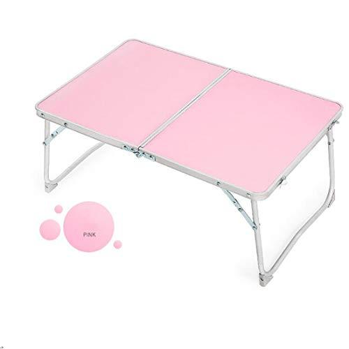 LWKBE Faltbarer Laptop-Tisch Leichtes Bett Schreibtisch Frühstück Tablett Tragbarer Mini-Picknicktisch,Pink