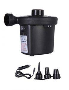 besbomig Elektrische Luftpumpe Multifunktion Elektropumpe mit 3 Luftdüse Kompressor für Luftmatratzen Schlauchboote Planschbecken Sitzsack