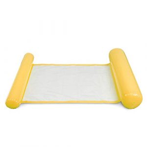 Grizack Aufblasbare Wasser-Hängematte, schwimmendes Bett, Lounge-Sessel, Drifter, Schwimmbad, Strand, für Erwachsene gelb