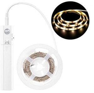 SIMGULAM LED-Bewegungsmelder-Lichter Streifenlichter-Stufenlichter Batteriebetriebene Lichterketten 10ft 90 LEDs Closet Lights,warmlight