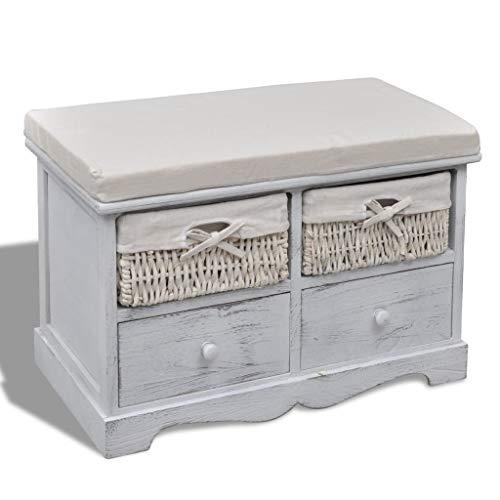 cangzhoushopping Kommode Schrank Truhenbank Schubladenschrank weiß Möbel Sitzbänke Truhen- Flurbänke