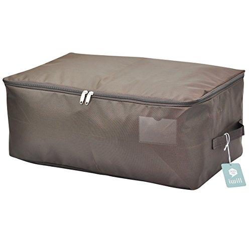 iwill CREATE PRO 65 * 38 * 28cm,Große, atmungsaktive Schlafzimmer-Aufbewahrungsbeutel für Kleiderschrank, Wasserdichte Aufbewahrungsbox für saisonale Kleidung für Kleiderschrank, Kaffee