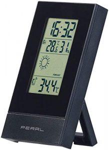 PEARL Wetterstation Funk: Digitale Wetterstation mit Uhrzeit, Wecker und Wetterprognose (Digitale Wetterstation mit Funkuhr)