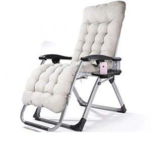 SAN_Y (Sonnenliege, klappbarer Mittagspause-Stuhl, Bürostuhl, ungezwungener Strandkorb, Rückenlehnenklappstuhl) + Perlmutterschwamm (Farbe : Gray)