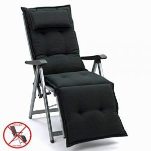 Auflagen mit Kopfpolster für Relax Liegestuhl Miami 50148-52 in schwarz (ohne Relax)