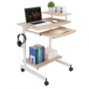 Folding table LVZAIXI Höhenverstellbarer Laptop-Schreibtisch-Büro-Notizbuch-Standplatz Multifunktions-Computer-Arbeitsplatz