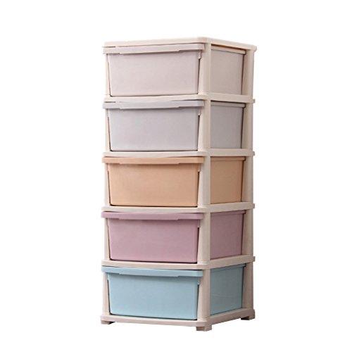 HU 5-Schicht verdickt montiert Kommode Baby Kleidung Aufbewahrungsbox Snack Spielzeug Kunststoff Schubladenschrank