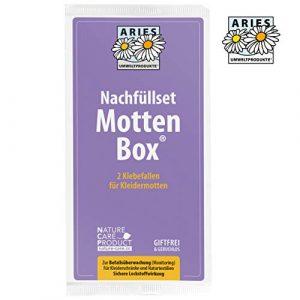 ARIES 2er Nachfüllset für Mottlock Motten Box – Mottenfalle für Kleidermotten – Klebefalle für Befallsermittlung und nachhaltiger Mottenschutz für den Kleiderschrank – ungiftig und geruchlos