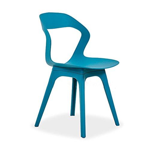 Freizeit Hocker Nordic Minimalistischen Schreibtisch Schreibtisch Stuhl Haushalt Kunststoff Stuhl Komfortable Blau Grün Rot (Color : Blue)