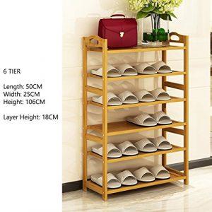 Schuhablagen Kleiner Schuhregal-Platzersparnis-Speicher-Stand Für Eingangs-Halle Starke Und Dauerhafte Regal-maximale Belastbarkeit Bis Zu 20KG (größe : 6 Tier)