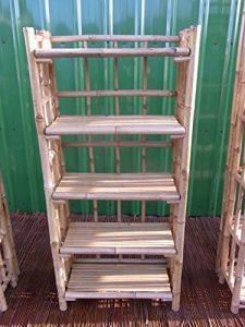 Bambusregal Bücherregal Bambusmöbel Badregal Schuhregal Wandregal Regal Bambus 140 x 64 x 34 cm