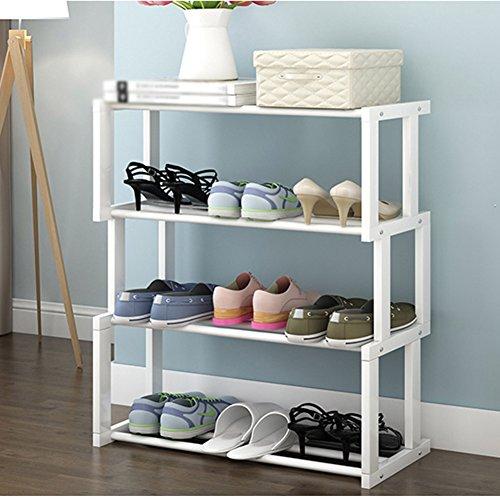 Shoe Racks Schuhregal y-yang Holz- und-Ablage, Schlafzimmer, Wohnzimmer, Schuhregal, holz, weiß, 4-tier
