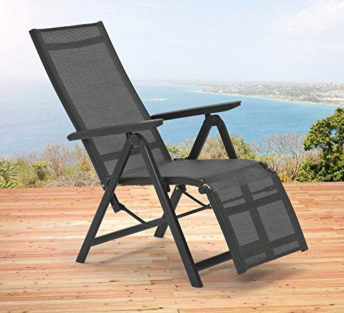 Kettler SYLT Relaxliege in anthrazit bronze Relax Relaxsessel