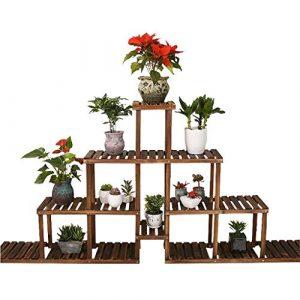 ZHYXJ-Flower Stand Blume Rahmen Dekoration Rahmen Pflanze Holz Indoor Outdoor Balkon Mehrschichtige Display Regal Lagerregal Schuhregal 192×95 cm 001