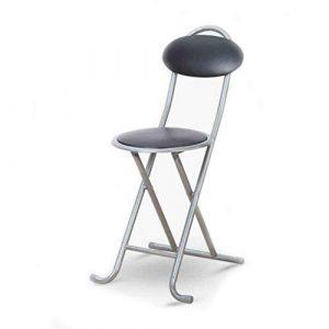 xy Klappstühle Folding, Schreibtischstuhl Klappstuhl Rückenlehne Esszimmerstuhl Simple Meeting Training Chair (Farbe : SCHWARZ)