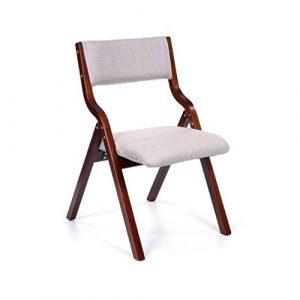 ECSD Holz Klappstuhl Weiches Stoffkissen Essensstuhl Schreibtischstuhl Abnehmbarer Sitzbezug (Farbe : 08)