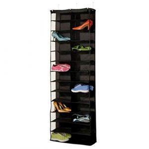 Ballylelly-Schuhregal Aufbewahrungsbox Halter Falten Hängende Tür Schrank 26 Tasche