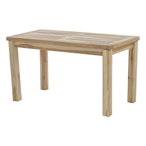 MACOShopde by MACO Möbel Beistelltisch Gartentisch aus massivem Teak Holz - 45x90 cm
