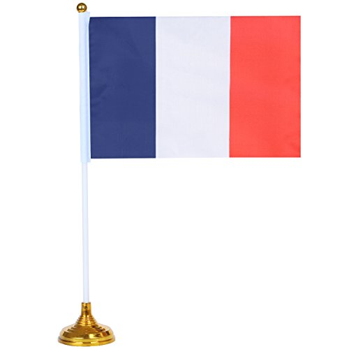Trixes Nylon Schreibtisch Flagge Um Frankreichs Nationalfeiertag zu Feiern Sturm auf die Bastille