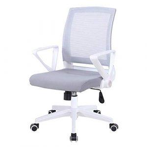 Dall Bürostuhl Ergonomisch 360-Grad-Schwenker Mesh-Stuhl Drehbarer Handlauf Schreibtischstuhl Höhenverstellung 38-48cm (Color : Gray)