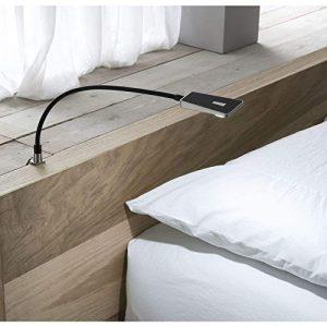 Secotec LED Schwanenhalslampe inkl. Netzteil, Schwarz,1 Stück