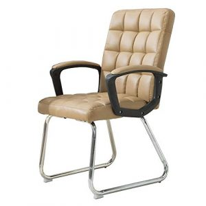 Dall Bürostuhl Studentenstuhl Bow-Form Unternehmen Stuhle PU Sitz Rückenstütze Schreibtischstuhl Bürobedarf (Farbe : Khaki)
