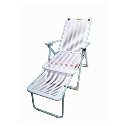 HARDY-YI - liegestuhl Liege Klappstuhl Mittagspause Stuhl Strand Stuhl faul Siesta Stuhl Freizeit Bürostuhl Kunststoff Liege - 7881