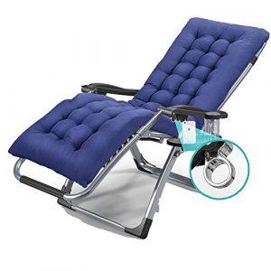 WOYQS Liegen Klappbögen Menschen Klappstuhl Mittagspause Lounge Chair Bürostuhl Siesta Chair Klappstuhl Camping-Stuhl (Color : Gray)