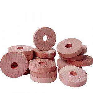 Cedar Space 22 Stück Zedernringe für Kleider – 100% US Red Zeder Holz – angenehm duftender Zedernholz Geruch