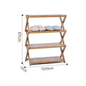 HHQ Kostenlose Installation Klappschuhregal, Schlafsaal für Damen mehrschichtiger, einfacher Schuhschrank, Balkon-Multifunktionsregal, Blumenständer (Color : Primary Color, Size : 73 * 67)