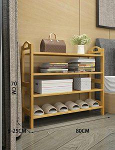 Xiejia Schuhständer Einfacher Schuhschrank Wohnzimmer Economy Schuhständer Nanzhu Montageregale Multifunktionsschuhständer (Farbe : B, größe : 80cm)