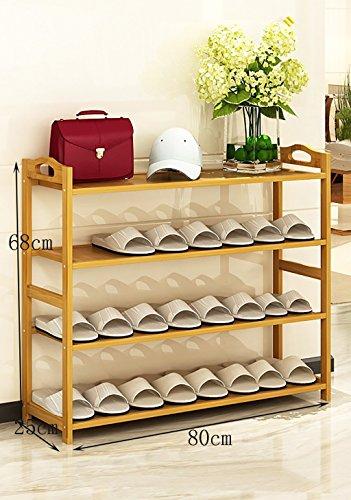 Schuhständer Nanzhu Haus Schuhschrank Montage Regale multifunktionalen Bambus Regale ( Farbe : B , größe : 80cm )