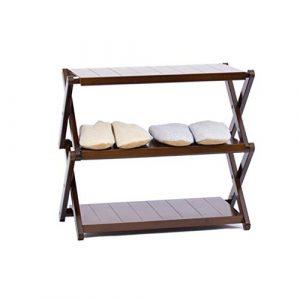 HHQ Kostenlose Installation Klappschuhregal, Schlafsaal für Damen mehrschichtiger, einfacher Schuhschrank, Balkon-Multifunktionsregal, Blumenständer (Color : Brown, Size : 55 * 88cm)