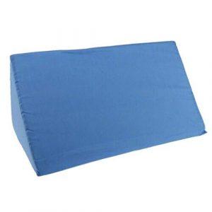 Yue668 Acid Reflux Foam Bett Keilkissen Bein Elevation Rücken Lordosenstütze Kissen Bett Sofa Rückenstütze Nackenkissen Lesekissen Couch Kissen (Blau)