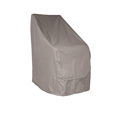 Raffles Covers NW-RADJC85 Abdeckhaube für Gartenstühle 85 x 75 H: 115/65 cm Schutzhülle für Stapelstühle und Relaxsessel, Abdeckhaube für Gartenstühle