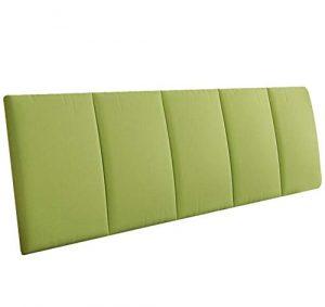 LXLIGHTS Kopfteil Kopfkissen Bettkeil Sofakissen Rückenlehne Taillenauflage, 7 Farben 6 Größen (Farbe : Green, größe : 200 * 55 * 5cm)