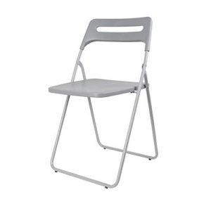 xy Klappstühle Folding, Schreibtischstuhl Klappstuhl Portable Freizeit Sessel Faltbar (Farbe : Gray)