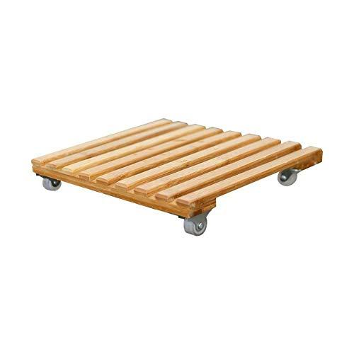 Ablita Holz-Blumentopf-Trolley mit 4 Rollen, beweglich, Pflanzenständer, S-25cm x 25cm
