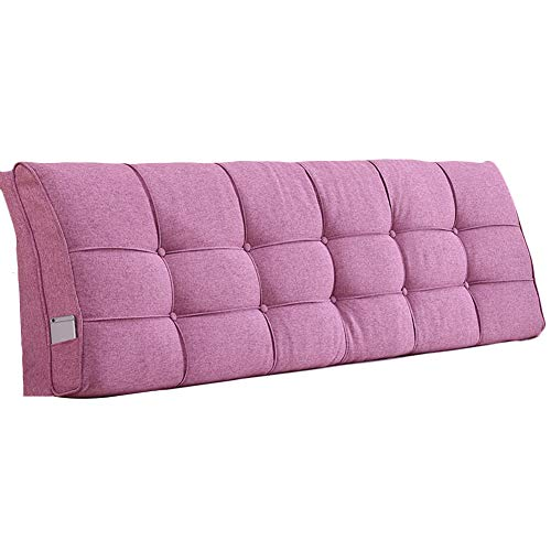 Bett kopfteil Rückenkissen Keilkissen Kissen Bett Rückenkissen Wickeln Sie Hedhead Weich Und Bequem Abnehmbar, 4 Farben, 13 Größen (Farbe : Rose Rot, größe : 140cm)