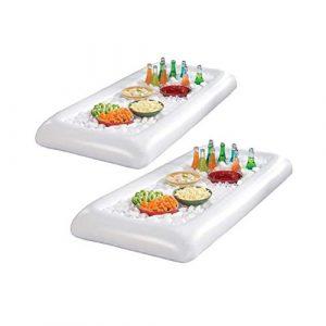 LIOOBO 2 stücke Aufblasbarer Kühler Getränkekühler Bierkühler Eiskühler Pool Salatbar Servierbar Buffet Servier für Schwimmbad Picknick Party