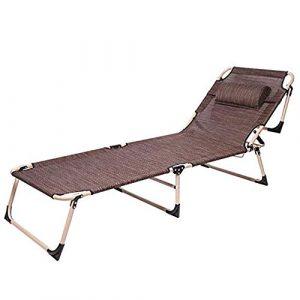 LONG Zero Gravity Sun Chair – Gartenstuhl Atmungsaktives Klappbett Einzelbett Bürostuhl Mittagspause Mittagspause Stuhl (Color : A)