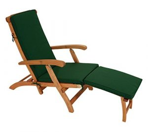 Polsterauflage DENVER für Deckchair oder Liegestuhl 176cm, dukelgrün